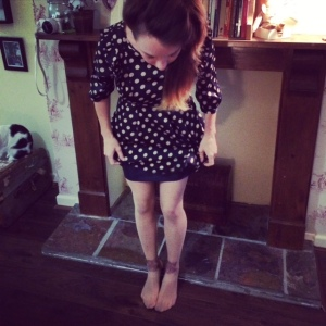wearing my sale tights from topshop - cat heads on my legs of course!